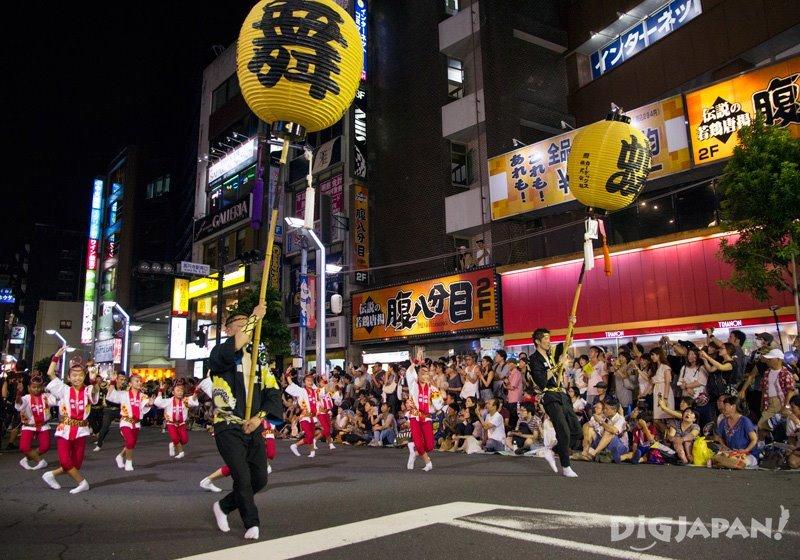 Takahari lantern - Tokyo Koenji Awa Odori 2017