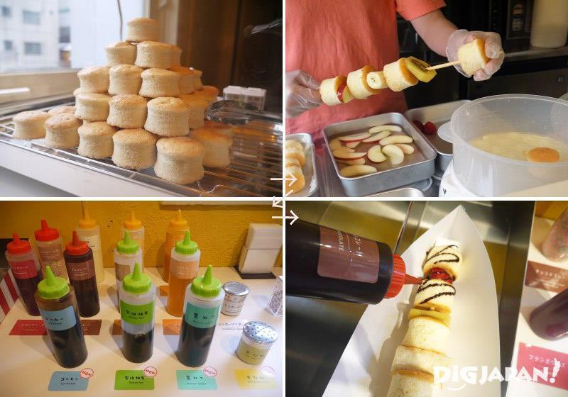 鬆餅和水果交錯串成的PANBO