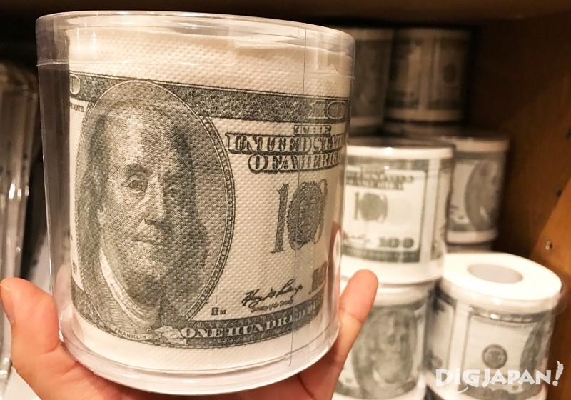 กระดาษทิชชู่ลายแบงค์ดอลลาร์