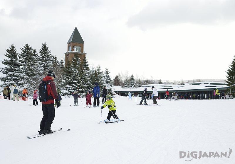 国营泷野铃兰丘陵公园雪地散步