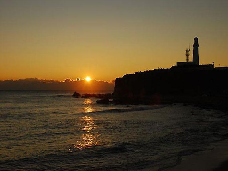 The sun rising off Inubosaki Lighthouse is said to be the first place the sun's rays hit Japan