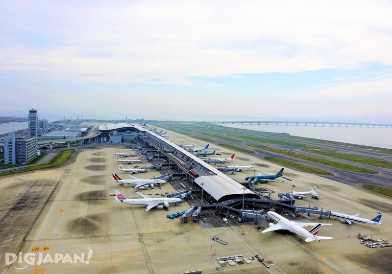関西国際空港上空からの全景