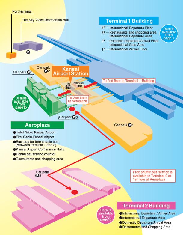 แผนผังสนามบินคันไซ