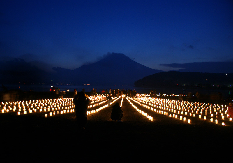 Lake Yamanaka ice candles