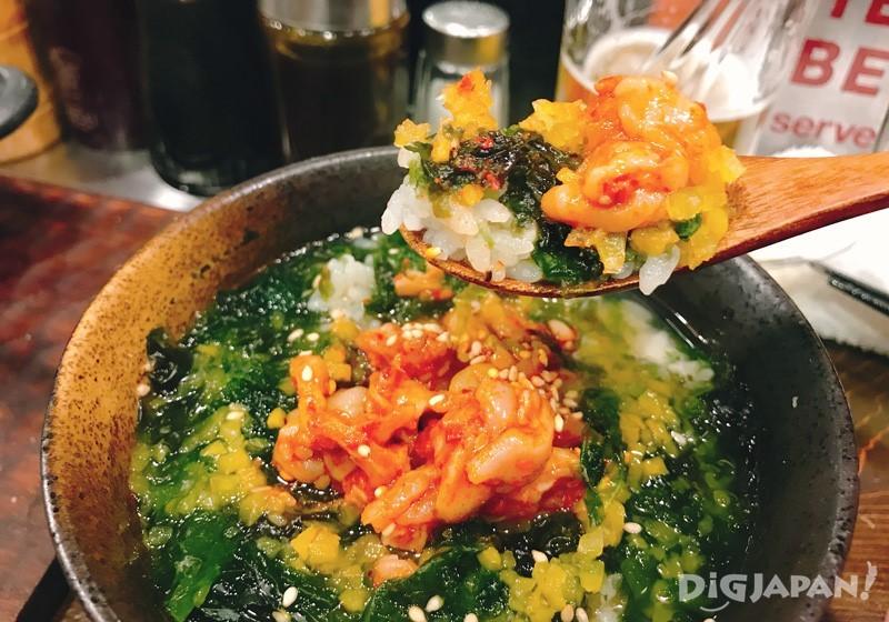 腌渍章鱼内脏的茶泡饭