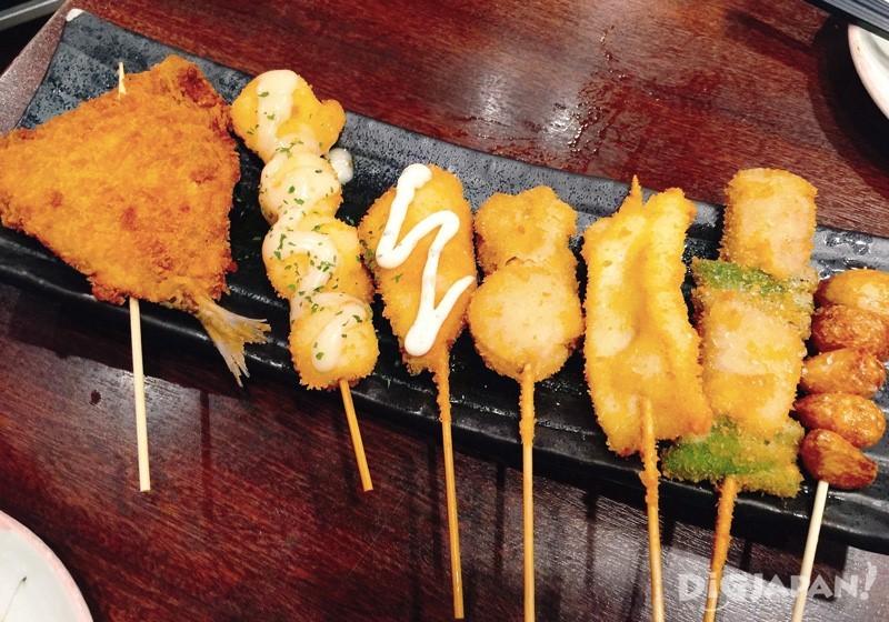 炸鱼串拼盘
