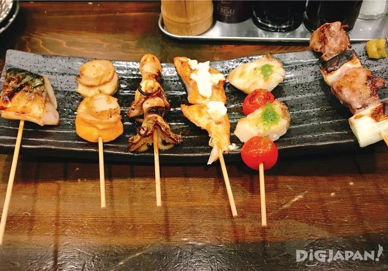 鱼串 烤鱼串拼盘