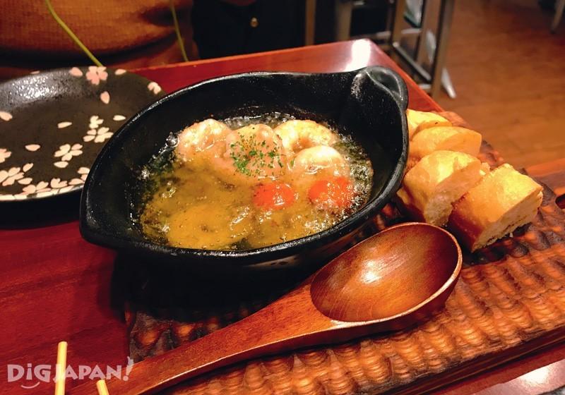 蒜油煎大虾(ajillo)