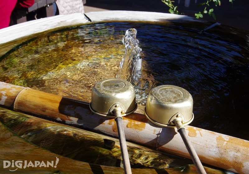 御宫横丁也有美味的涌泉水