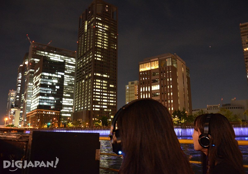 Cruising with headphones - Nakanoshima River Cruise in Osaka