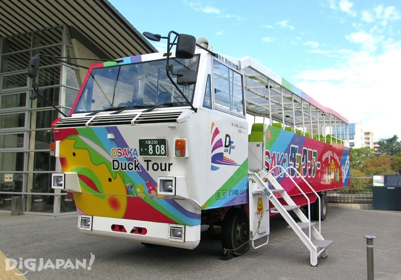Osaka Duck Tour amphibious bus