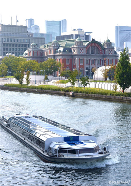 Osaka city's Central Public Hall - Aqua-Liner Water Bus