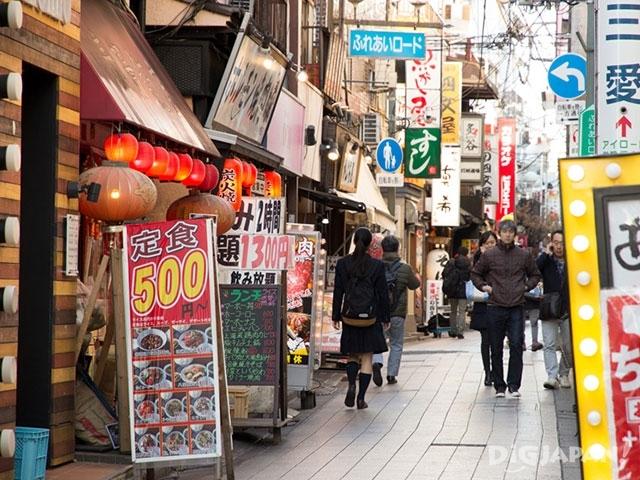 中野有各种各样的店铺