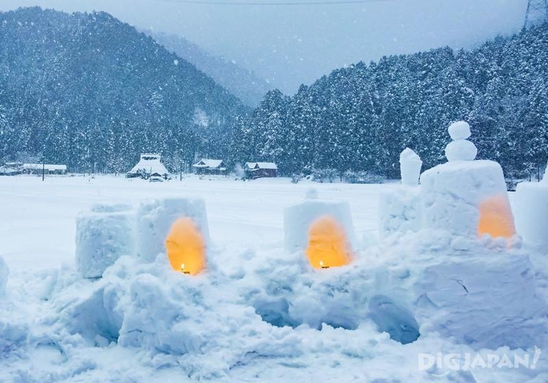 京都美山町雪燈廊