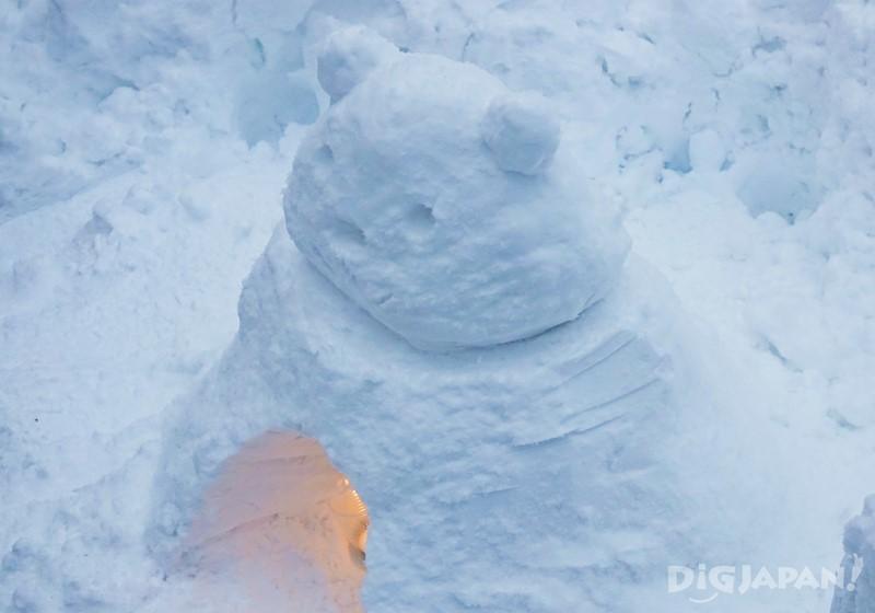 美山町雪燈籠小熊