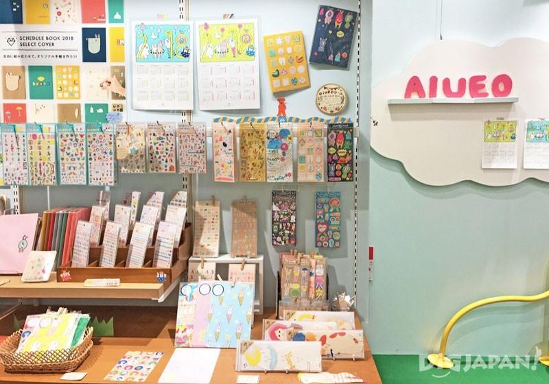 AIUEO店内有专属的手账贴纸区
