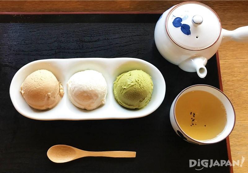 三个黄豆粉系列冰淇淋组合1