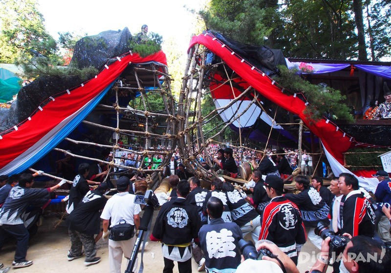 Ofune Matsuri festival on Hotaka Shrine