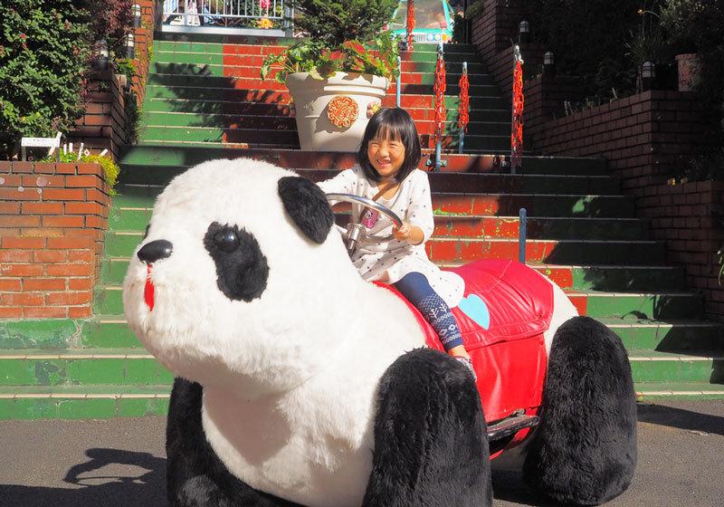 淺草花屋敷貓熊車車