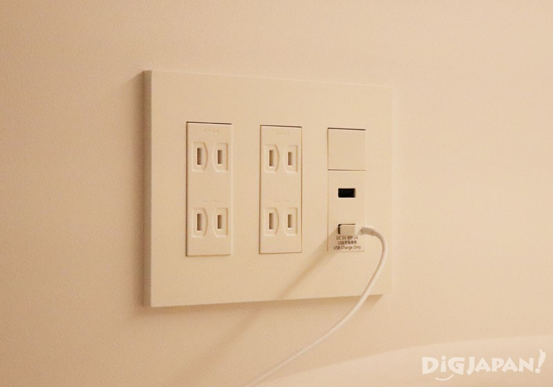 Power outlets and USB ports