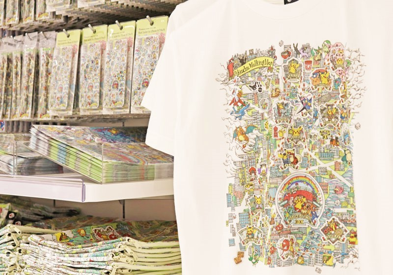 Pikachu-themed Nihonbashi Sightseeing Map Goods