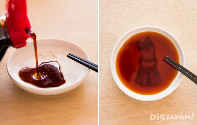 Shiba inu soy sauce dish from Village Vanguard