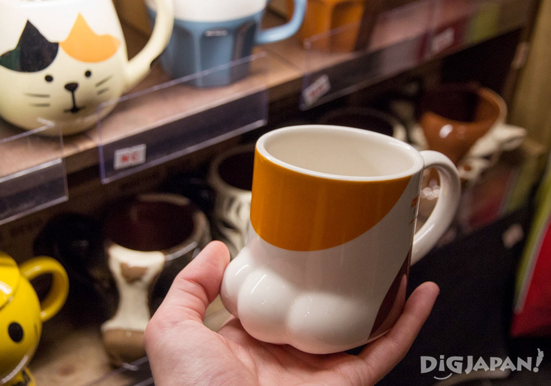 Cat paw mug from Village Vanguard