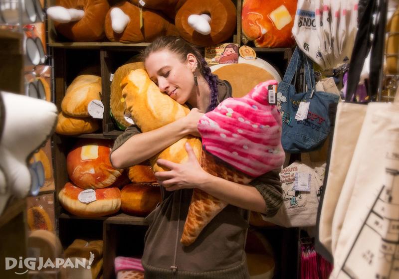Food-inspired pillows at Village Vanguard
