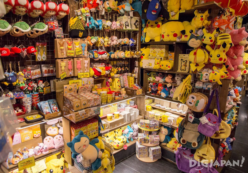 Pokemon goods at Village Vanguard