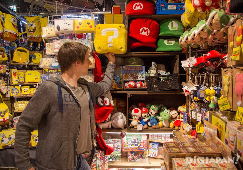 Super Mario character goods at Village Vanguard