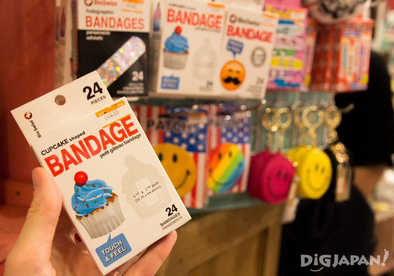 Cupcake band-aids at Village Vanguard