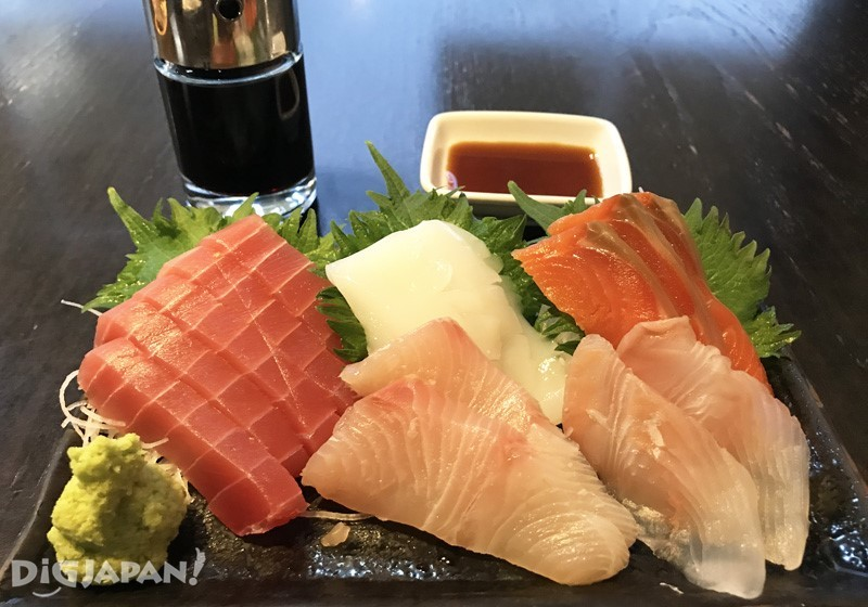 Sashimi set, 3 pieces