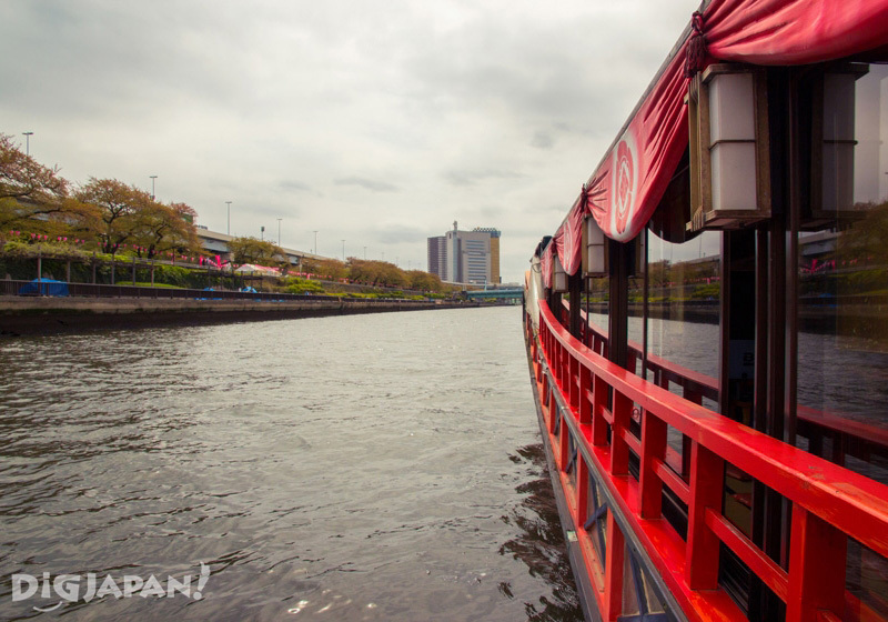 View from a Japanese traditional boat