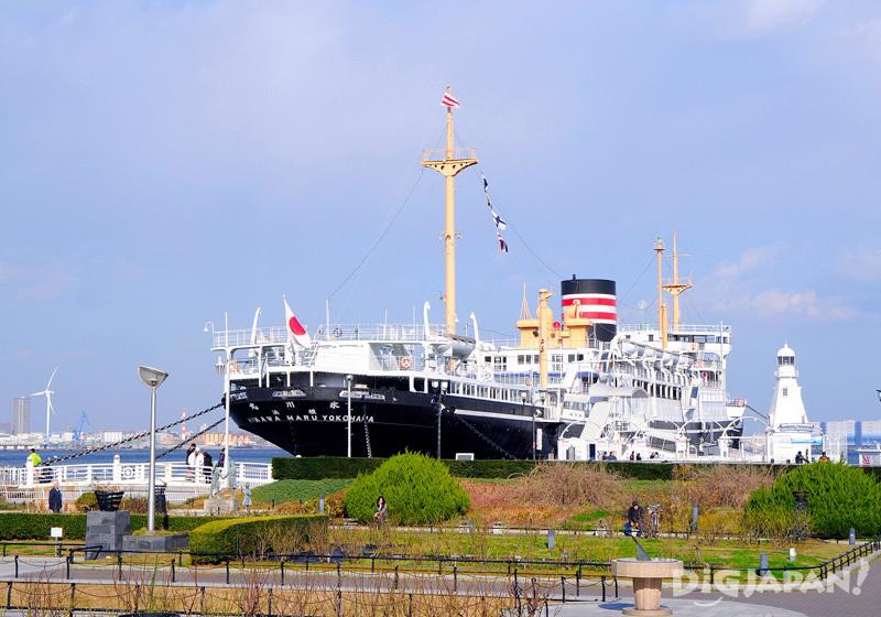 Hikawa Maru Boat in Yamashita Park, Yokohama