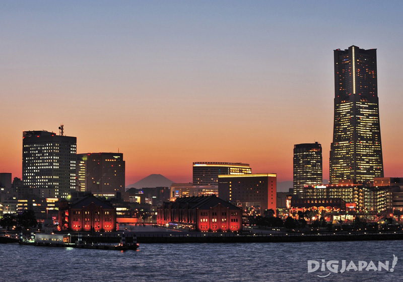Yokohama, Minato Mirai at night skyline