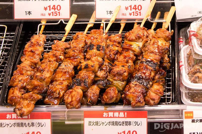 Large pieces of yakitori