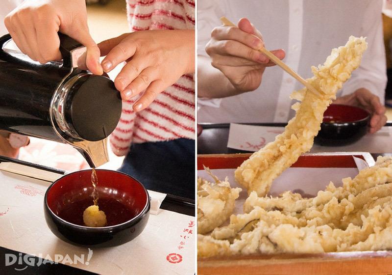 How to eat tempura