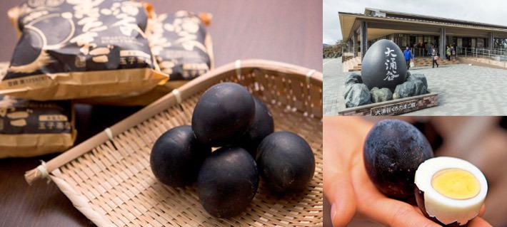 Owakudani's famous black eggs!