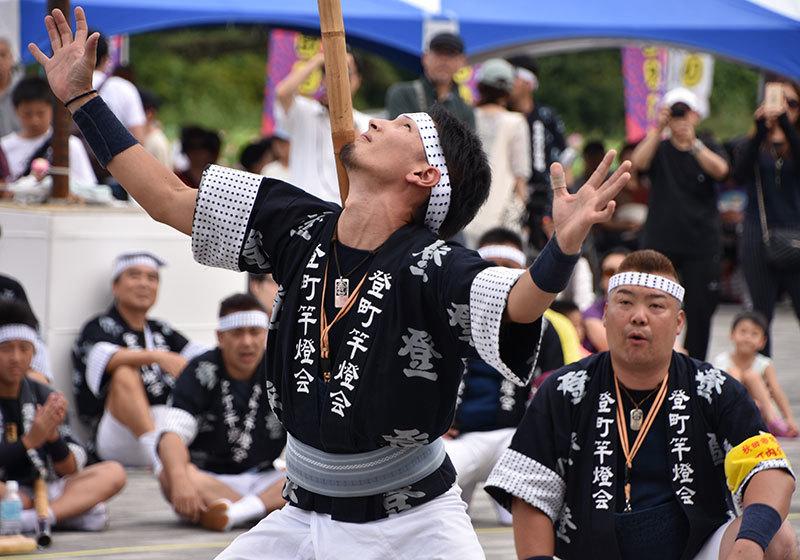 A sashite performer at Akita Kanto Festival