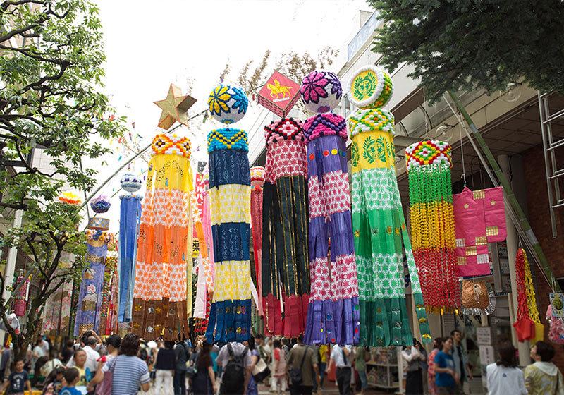 Sendai Tanabata Festival streamers