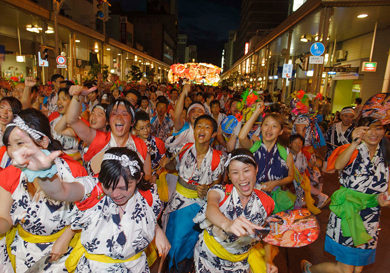 Aomori Nebuta Festival - people participating in the dance