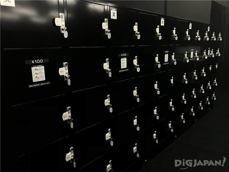 teamLab Borderless coin lockers