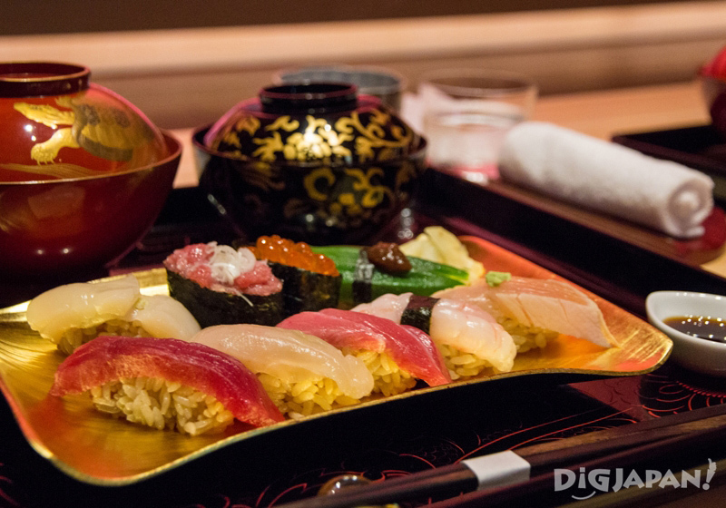 Edo-style sushi at Suigian