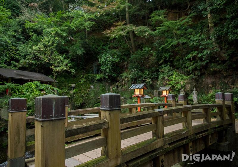 Bridge leading to Todoroki Fudoson Temple