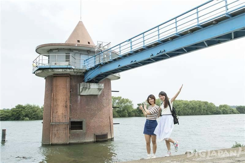 Look for the Red Brick Tower in the Edo River