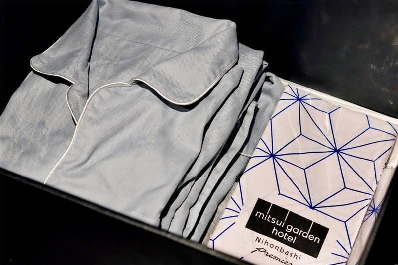 三井花園飯店 提供睡衣及日本格紋手巾