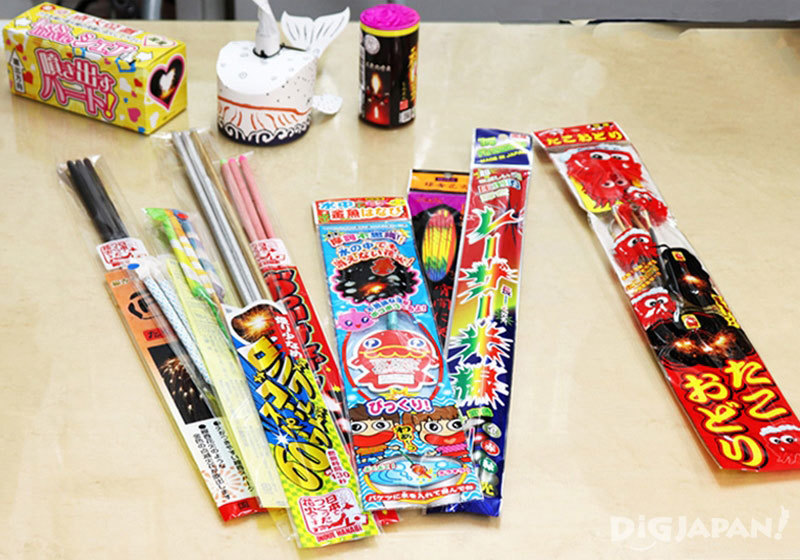traditional and cute Japanese fireworks