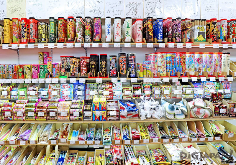 Japanese fireworks shelves