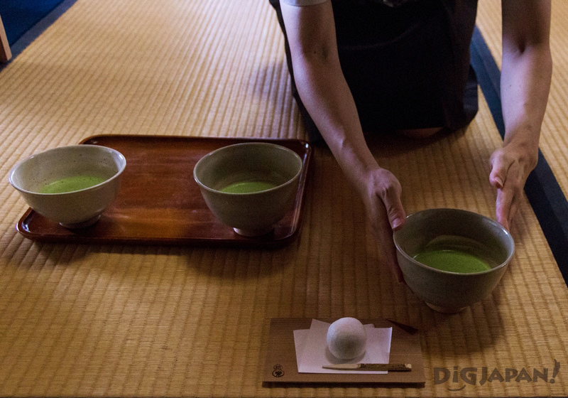 Tea ceremony at the Izumo Cultural Tradition Hall