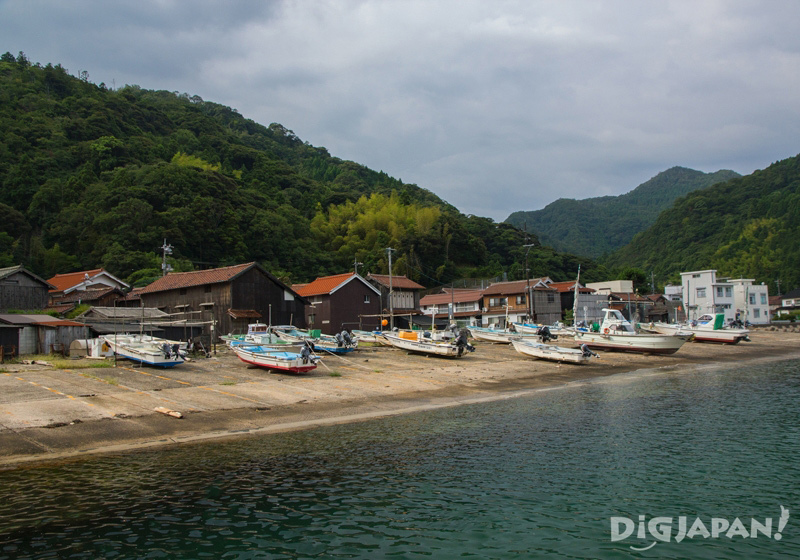 The fishing village of Sagiura, Izumo